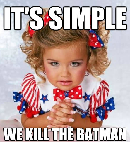 "Adorable girl ""we kill the batman"" meme"