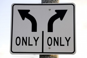 right-and-left-turn-only-arrow-sign
