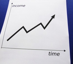 success chart with income
