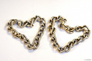 Two hearts of gold chain.