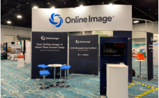 Online Image® booth at a conference