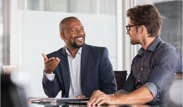 franchisor speaking in a meeting